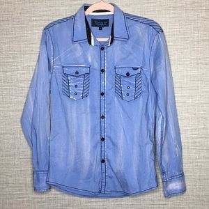 Roar Mens Sz S Signature Shirt Rockabilly West